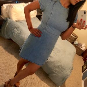 Express denim dress